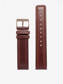 Ceas unisex bronz cu curea maro din piele naturala - LARSEN & ERIKSEN 41 mm