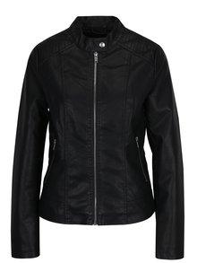 Černá koženková bunda VILA Bethella