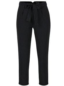 Čierne pruhované nohavice s vysokým pásom TALLY WEiJL