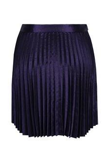 Tmavě modrá lesklá plisovaná sukně VILA Henly