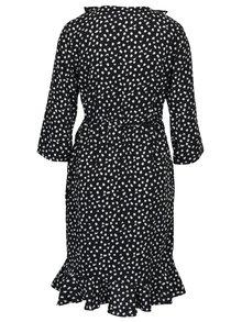 Černé vzorované zavinovací šaty s volány VERO MODA Henna