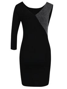 Čierne puzdrové šaty bez rukávov TALLY WEiJL