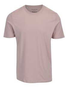 Tricou basic roz prafuit din bumbac pima - Selected Homme The Perfect