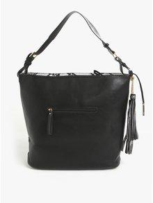 Čierna kabelka so strapcami LYDC