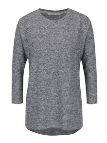 Sivý tenký melírovaný sveter s 3/4 rukávom Haily´s Lena