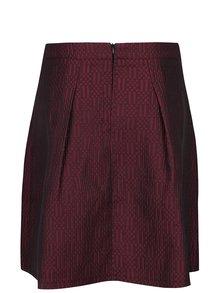 Vínová vzorovaná sukňa Smashed Lemon