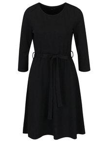 Čierne kvetované šaty s 3/4 rukávmi Smashed Lemon