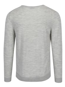 Pulover subtire gri deschis din lana merino - Selected Homme Tower