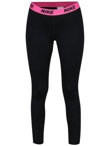 Růžovo-černé dámské funkční legíny Nike