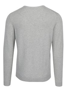 Pulover subtire gri deschis din bumbac pima -  Selected Homme Tower
