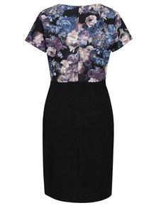 Rochie neagra cu print floral Smashed Lemon