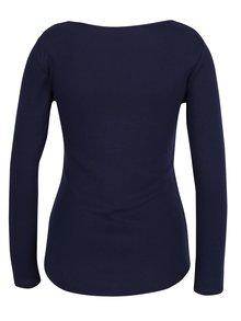 Tmavomodré tričko s dlhým rukávom Dorothy Perkins Petite