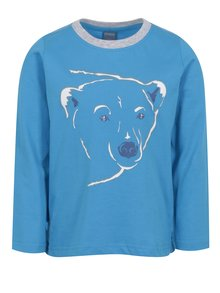 Modré klučičí tričko s potiskem ledního medvěda Venere