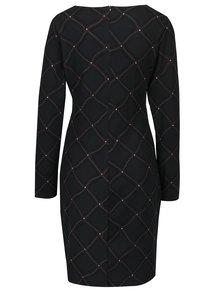 Tmavozelené vzorované šaty s dlhým rukávom Smashed Lemon