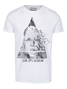 Biele tričko s potlačou Shine Original