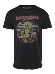 Čierne tričko s potlačou Jack & Jones Vintage Rock