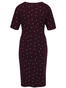 Vínové vzorované tehotenské šaty Dorothy Perkins Maternity