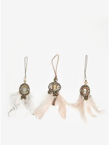 Set de 3 decoratiuni dreamcatcher cu camee - Kaemingk