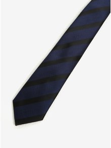 Cravata bleumarin & negru cu model in dungi - Selected Homme Xin Tie