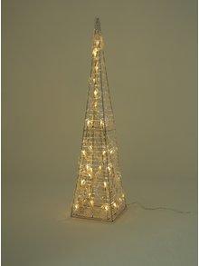 Malý LED svietiaci ihlan v striebornej farbe Kaemingk