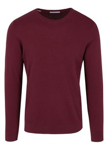 Pulover subtire bordo din bumbac - Selected Homme Damian