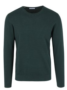 Pulover subtire verde inchis din bumbac - Selected Homme Damian