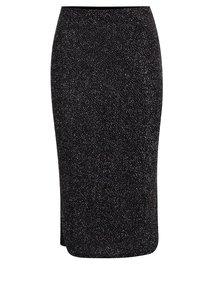 Černá vzorovaná metalická sukně Dorothy Perkins