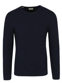 Pulover tricotat bleumarin cu model discret - Selected Homme Reed