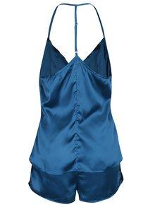 Pijama albastru petrol cu dantela Dorothy Perkins