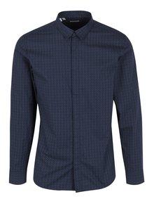Tmavě modrá formální košile s jemným vzorem Selected Homme Doneelan