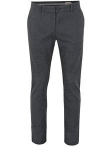 Pantaloni gri slim fit cu carouri discrete - Selected Homme Rolf