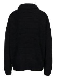 Pulover tricotat negru cu guler indoit - Jacqueline de Yong Kika