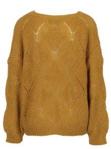 Horčicový oversize krátky sveter ONLY Rihanna