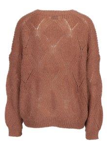 Staroružový oversize krátky sveter ONLY Rihanna