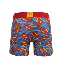 Boxeri albastri cu print Superman pentru barbati - Superman Freegun