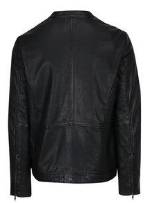 Čierna kožená bunda Lindbergh