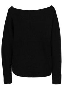 Čierny mohérový sveter s lodičkovým výstrihom Noisy May Abbey