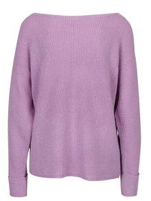 Fialový mohérový sveter s lodičkovým výstrihom Noisy May Abbey