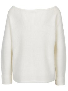 Krémový mohérový sveter s lodičkovým výstrihom Noisy May Abbey