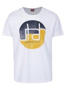 Bílé pánské regular fit tričko s potiskem s.Oliver