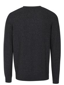 Tmavosivý pánsky sveter s nápisom s.Oliver
