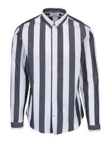 Bielo-sivá pruhovaná košeľa Lindbergh