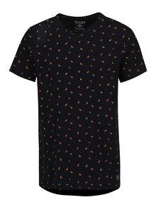 Tricou negru din bumbac cu print caprioare - Blend