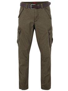 Pantaloni cargo kaki regular fit cu centura s.Oliver