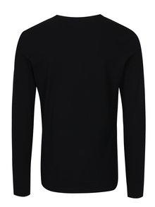 Bluza neagra slim fit cu print - Blend