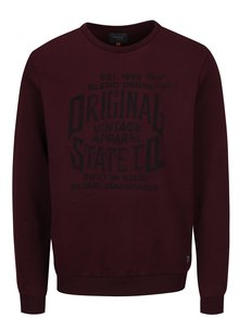 Bluza sport bordo cu print text - Blend