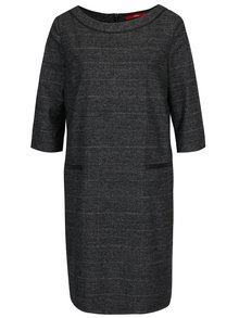 Sivé voľné vzorované šaty s 3/4 rukávom s.Oliver