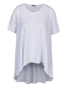 Tricou alb cu spate alungit - ZOOT simple