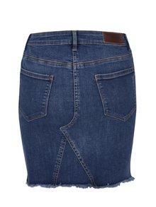 Modrá rifľová sukňa VERO MODA Lana