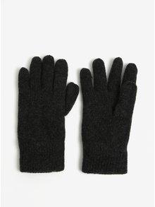 Tmavosivé zimné rukavice s prímesou vlny Blend